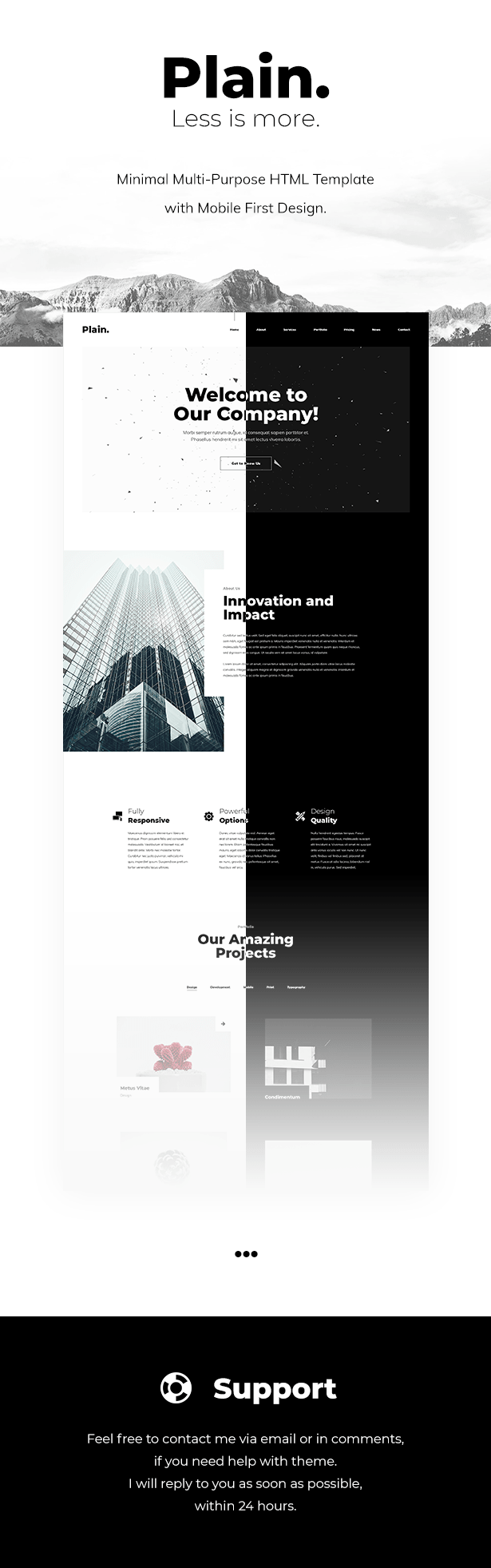 Plain - Minimal Multi-Purpose HTML Template